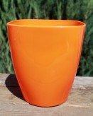 Кашпо для орхидей «Ага» оранжевого цвета