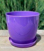 Пластиковые вазоны для цветов «Ага» светло-фиолетовые