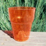 Кашпо для орхидей «Битое стекло» оранжевое