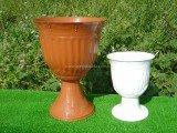 Кашпо для цветов «Калла-лепка газон» белое и терракотовое