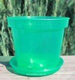 Горшок для орхидей с  подставкой зеленого цвета
