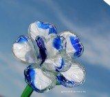 Стеклянный цветок Белая экзотика