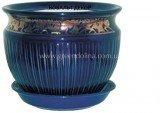 Керамический горшок для цветов «Антика» - модель кобальт декор