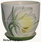 Горшок для цветов «Кедр» - модель «Белый нарцисс»