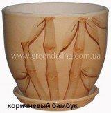 Горшок для цветов «Кедр» - модель «Коричневый бамбук»