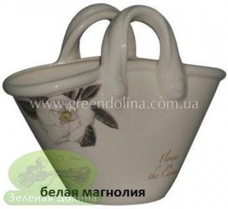Кашпо для цветов «Корзинка» - цвет белая магнолия