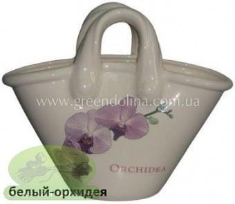 Кашпо для цветов «Корзинка» - цвет белая орхидея