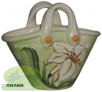 Кашпо для цветов «Корзинка» - модель «Лилия»