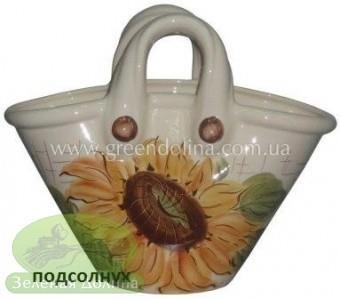 Кашпо для цветов «Корзинка» - модель «Подсолнух»