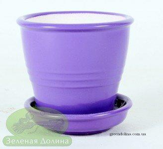 Цветочный горшочек фиолетовый