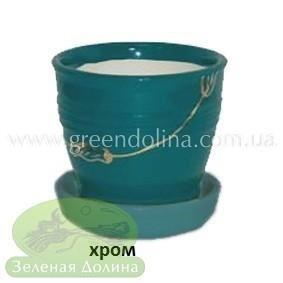 Керамический горшок для цветов «Ведёрко»