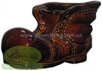 Керамическое кашпо для растений «Ботинок»