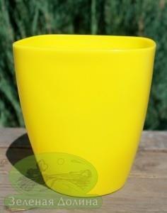Кашпо для орхидей «Ага» жёлтого цвета