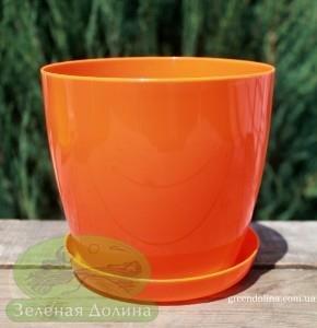 Пластиковые вазоны для цветов «Ага» оранжевыого цвета