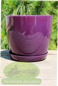 Пластиковые вазоны для цветов «Ага» тёмно-фиолетовые