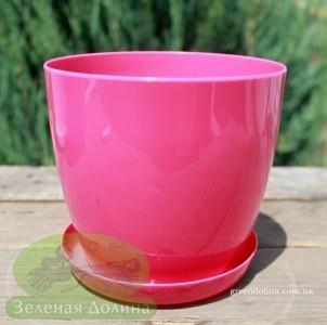 Пластиковые вазоны для цветов «Ага» розового цвета