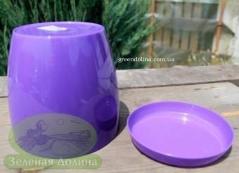 Пластиковые вазоны для цветов «Ага», дно и тарелочка