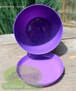 Пластиковые вазоны для цветов «Ага» вид сверху