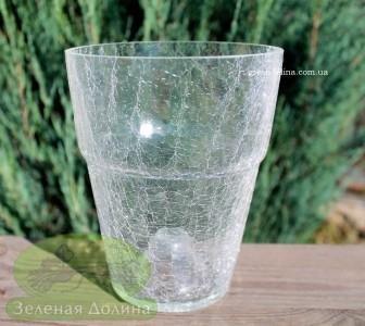 Кашпо для орхидей «Битое стекло» прозрачное