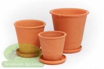 Набор «Терракота» из 3-5 глиняных горшков для цветов
