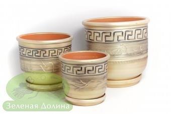 Набор керамических горшков для цветов «Олимп»