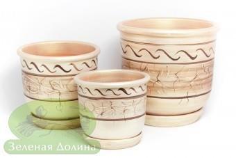 Набор глиняных горшков для цветов «Олимп»