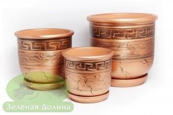 Набор керамических вазонов для цветов «Олимп»