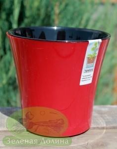 Пластиковый вазон «Santino Arte» красного цвета