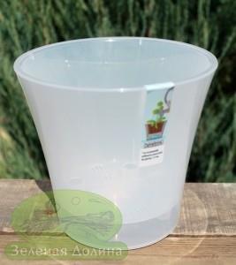 Прозрачный пластиковый горшок для цветов «Santino Arte»
