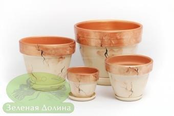 Набор керамических горшков для цветов «Спарта»