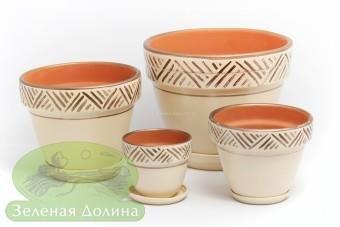 Набор керамических вазонов под цветы «Спарта»