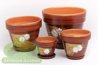 Набор цветочных глиняных горшков «Спарта»
