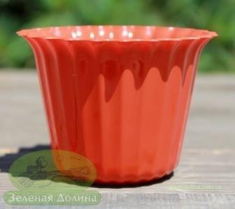 Пластиковый горшок для цветов «Люська» терракотовый