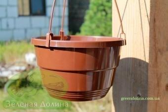 Подвесной вазон «Новый» терракотового цвета