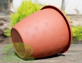 Пластиковое кашпо для цветов La madera