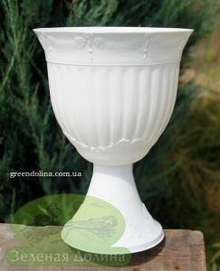 Кашпо для цветов «Калла-лепка газон» белого цвета
