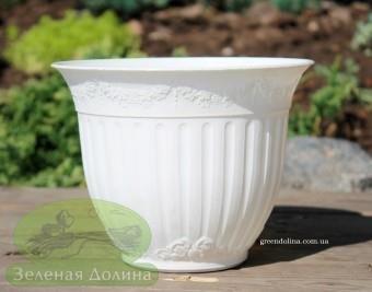 Горшок для цветов Калла-лепка стоячая белая