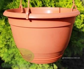 Подвесной горшок для цветов и растений Цегла