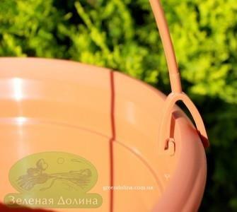 Подвесной горшок для цветов «Цегла висячая» - крепление к ободку