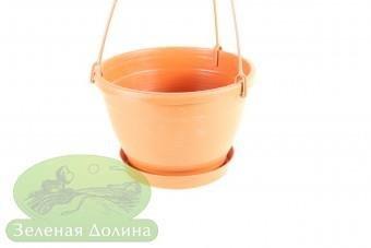 Подвесной вазон «Бочка»  терракотового цвета