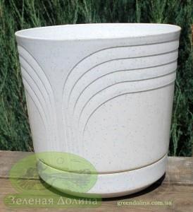 Вазон для цветов «Коррадо» белый мрамор