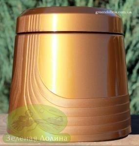 Горшок для цветов со встроенной тарелкой «Коррадо» вид сбоку