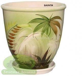 Керамический горшок для цветов «Бутон» - рисунок баунти