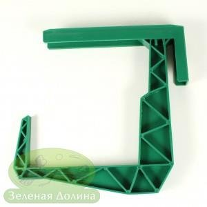 кронштейн для балконных ящиков зелёный