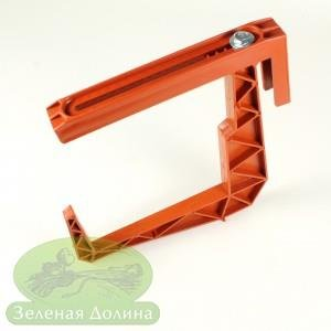 кронштейн для балконных ящиков терракотовый 2