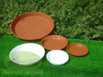 Пластиковые тарелочки под вазоны