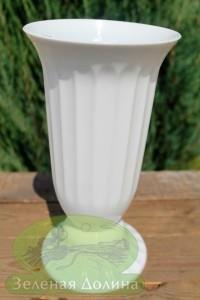 Напольное кашпо для срезанных цветов «Flakon» белого цвета