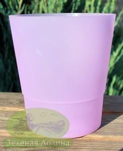 Кашпо для орхидеи «Матовое» светло-фиолетового цвета