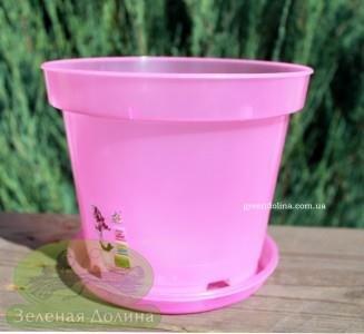 Горшок для орхидей с  подставкой розового цвета