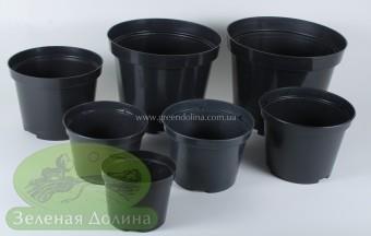 Круглые горшки для рассады «Рэмигуш» чёрного цвета